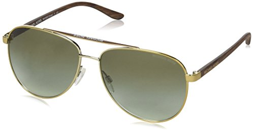 Michael Kors HVAR MK5007 Sunglasses 10432L-59 - Gold Wood Frame, Green Gradient ()