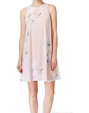 Calvin Klein Womens Floral Print Sleeveless Casual Dress