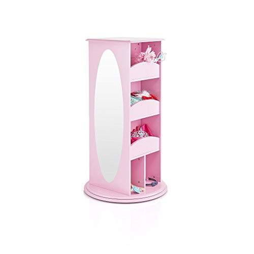 Guidecraft Rotating Dress Up Storage Center Pink - Armoire, Dresser Kids' Furniture