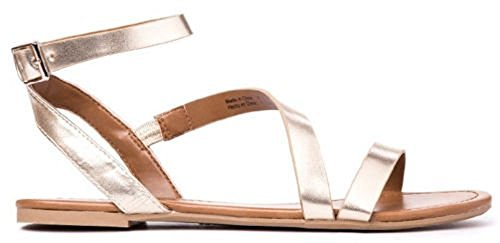 Call It Spring Women's Agroerwen Gladiator Sandal, Gold, 6 B US