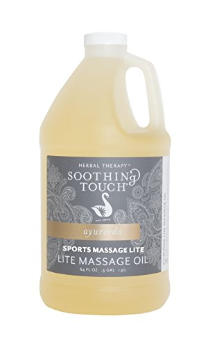 Soothing Touch Sports Lite Massage Oil, Peppermint Eucalyptus Clove, 64 Ounce