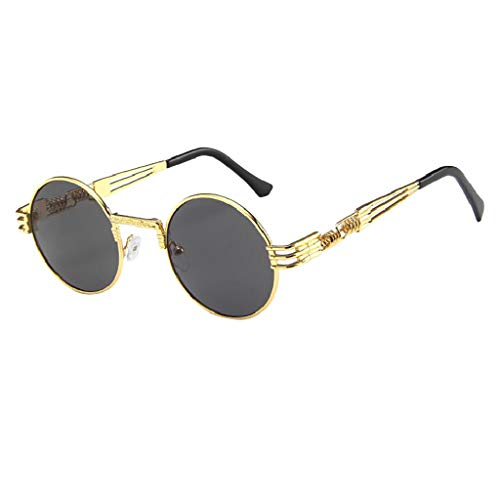 Men Women Sunglasses, UV Protection Outdoor Glasses Vintage Round Eyeglasses Fishing Activity ()