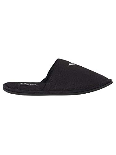 8 Black Slipper m Uk 41 42 Loungewear Armani Emporio 111377 8a577 URzOwWq