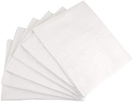 12x White Muslin Squares Baby Muslins Cloths Nappy Inserts 100/% Cotton Bibs 70cm