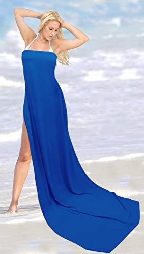 Beachwear g155 La Leela Abito Donne Pareo Rayon Sarong Solido Blu Involucro c435jALqRS