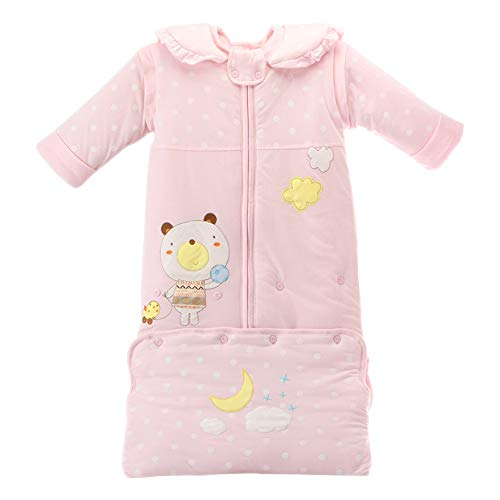 DAZISEN Baby Child Soft Sleeping Bag - Polka Dot Printing Wearable Sleep Sack Pink