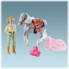 Mattel Fisher Price Loving Family Lily Gray Western Horse