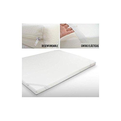 AMUEBLALO - Topper Viscoelástico Viscogel Espesor Altura de 5cm V55 - Topper colchón Sensible a la Temperatura - 135x180x5: Amazon.es: Hogar
