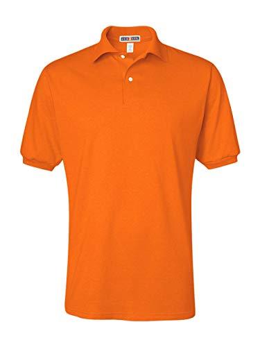 Jerzees Men's Spot Shield Short Sleeve Polo Sport Shirt, Safety Orange, 2X-Large by Jerzees