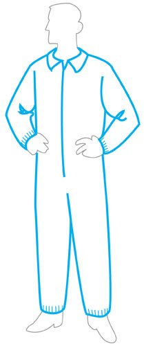 Medium Liberty Glove /& Safety 15135M Case of 25 Liberty PolyGard SpunBonded Polypropylene Mediumweight Zipper Front Coverall with Elastic Wrists and Ankles