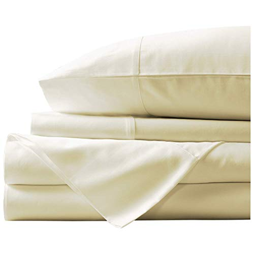 (Marina Shades Authentic Egyptian Cotton Sheet Set fits mattresses up to 19
