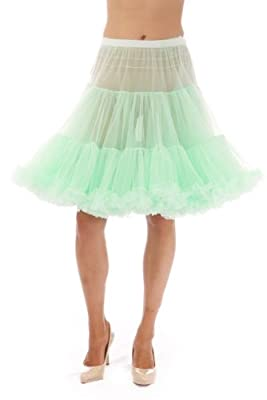 Malco Modes Luxury Vintage Knee-Length Crinoline Petticoat Skirt Pettiskirt, Adult Tutu for Rockabilly 50s