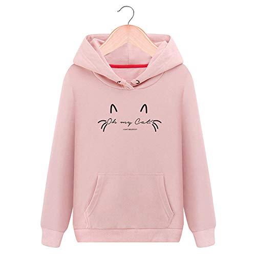 Tops Rose Sports Shirt Manches Automne Blouse Automne Wolfleague Sweats Femme Capuche Coton Casual Hiver Sweat Shirt LGantes Hooded Sweat Dames Blouson Col Ray Rond Longues 0qxwOxSYtX