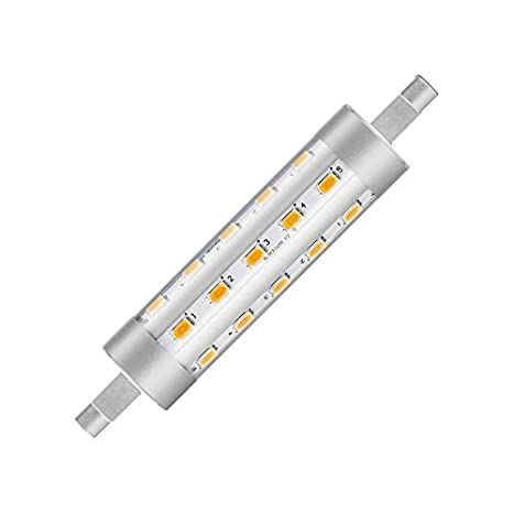 Bombilla LED R7S CorePro 118mm 6.5W Blanco Cálido 3000K efectoLED: Amazon.es: Iluminación