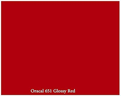 Red Glossy 12inch x 10ft Roll of Oracal 651 Permanent Adhesive-Backed Vinyl for Craft Cutters, Punches and Vinyl Sign Cutters