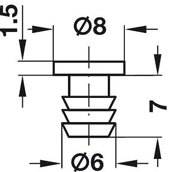 D/ämpfer zum Einlassen ins Holz T/üranschlagpuffer Schrank-T/ü 100 St/ück Gedotec Anschlagpuffer T/ür-Puffer f/ür M/öbel /& Schubladen Bohr-/Ø 6 mm Kunststoff transparent T/ürd/ämpfer zum Eindr/ücken