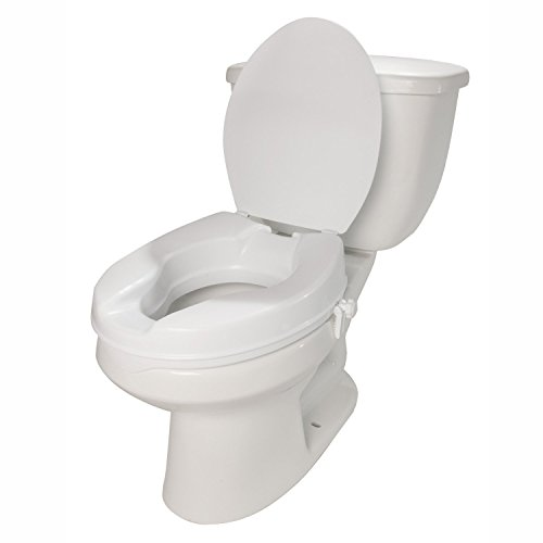 Molded Toilet Seat Riser With Lid 2 Inch Lift Senior