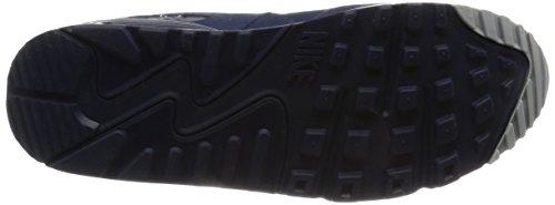 NIKE Air Max 90 Essential - Zapatillas de correr de cuero hombre Varios colores (Wolf Grey / Binary Blue / Dark Grey / White)