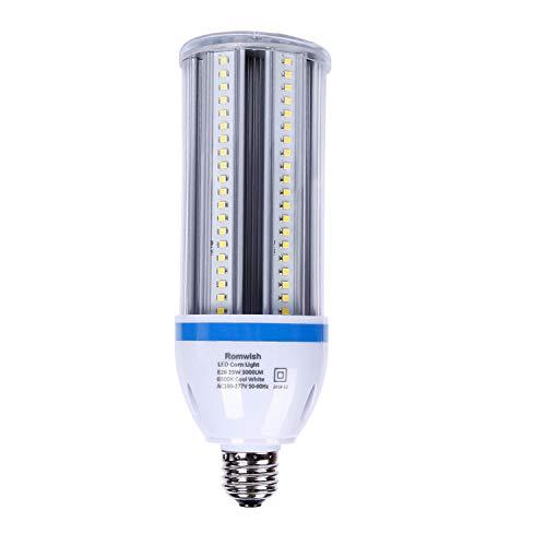 Corn LED Bulb - 25W 3000LM LED Corn Light 6500k Cool White, Super Bright 250 Watt Replacement Incandescent Bulbs, E26 Standard Base High Output LED Corn Lamp for Garden, Backyard, Garage, Warehouse