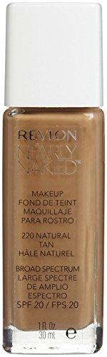 Revlon Nearly Naked Liquid Makeup Broad Spectrum SPF 20, Natural Tan, 1 Fluid (Revlon Spf 20 Foundation)