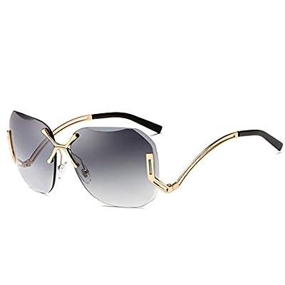 NEW Transparent Rimless Pilot Sunglasses Women CUT OFF Frameless Sun Glasses Shades Oculos OM355