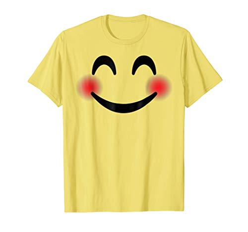 Halloween Emojis Costume Shirt Blushing Smiling -