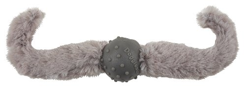 Doggles Mustache with Handlebar Toy for Dogs, Silver