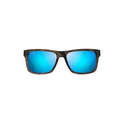 Maui Jim Chee Hoo B765-14B Sunglasses, Stormy Grey Classic Frame, Polarized Blue Hawaii ()