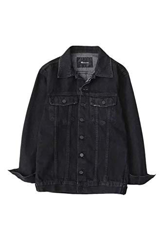 Primaverile Tendenza Giacche Schwarz Mode Maniche Jacket Fidanzato Base Lunghe Eleganti Marca Casual Relaxed Stile Blu Cappotto Autunno Donna Giacca Di Jeans Bolawoo 7CIqUU