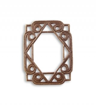 - Vintaj Etruscan Layering Window 26x20mm, Natural Brass F02, Jewelry Making, Scrapbooking