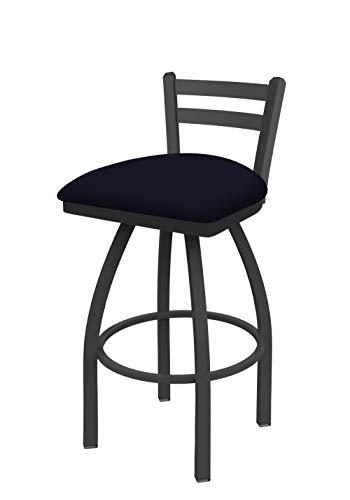Holland Bar Stool Co. 41130PW002 411 Jackie Low Back Swivel Bar Stool, Canter - Leather Trica Bar Stool