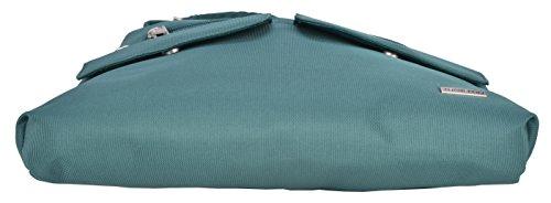 Bag W Anti one Classic Green Travelon Black Crossbody teal Size Bucket Lining theft qXxzWOw4