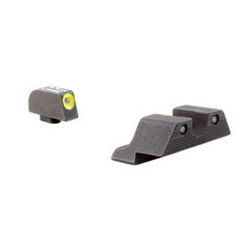 Trijicon GL104Y HD Night Sight Set with Yellow Outline for Glock Pistols