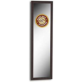 Over The Door / Wall Mounted Mirror   Easy To Hang (50, Brown)