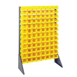 (Quantum Storage Systems - Single Sided Louvered Rack - - - L x W x H - 96 QUS220-12 Shelves - 1 - Baked-Enamel Finish - Part Number:QRU-12S-220-96YL)