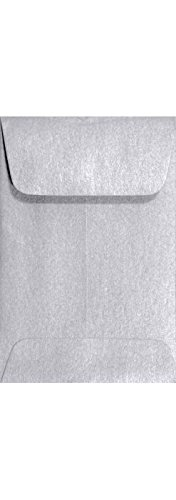#1 Coin Envelopes (2-1/4 x 3-1/2) - Silver Metallic (250 Qty.) | Perfect for Weddings, Parties & Place Cards | Fits Small Parts, Stamps, Jewelry, Seeds | Mini / Crafting Envelopes | 80lb Text Paper