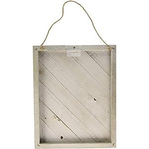 Hampton Art Weathered Jillibean Soup Mix The Media Diagonal Wooden Plank, 12″ x 15″