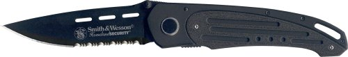 Smith & Wesson SW480BS Homeland Security Serrated Knife, (Homeland Security Liner Lock)