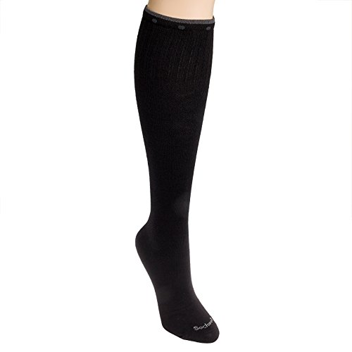Sockwell Women's On The Spot Moderate Compression Socks (Black Solid, S/M)