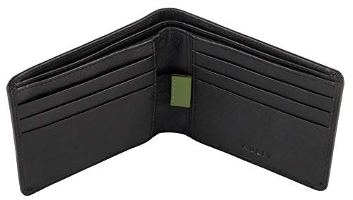 RFID Blocking Passcase Leather Wallet Sleek and Minimalist with Easy Pull Tab