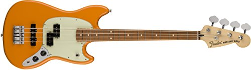 Fender Limited Edition Mustang PJ Electric Bass with Pau Ferro Fingerboard Capri Orange by Fender