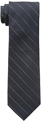 Calvin Klein Men's Gold Glimmer Pinstripe Tie