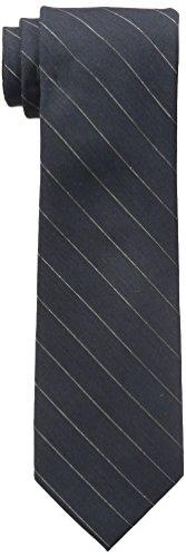 Calvin Klein Men's Gold Glimmer Pinstripe Tie, Charcoal, One Size