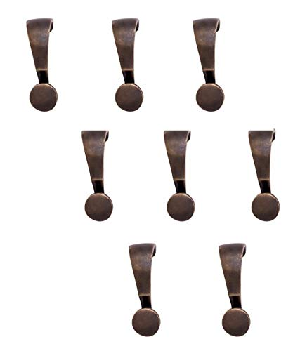Lot of Eight (8) Picture Rail hangers, handmade of Solid Bronze with OIL RUBBED BRASS Top coat. The pictures will tell the full story of the exception product.