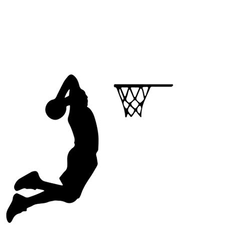 YINGKAI Two Handed Slam Dunk Basketball Player Dunking on Light Switch Decal Vinyl Wall Decal Sticker Art Living Room Carving Wall Decal Sticker for Kids Room Home Window Decoration