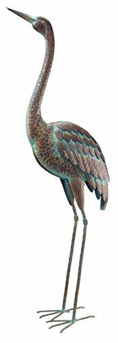 Cheap CHSGJY Vintage Standing Crane Coastal Metal Bird Statue Garden Yard Art Stake Outdoor Heron