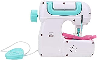 Máquina de Coser para Niños, ABS Mini Tamaño Mediano Manual Portátil para Hogar Máquina de Reparación Eléctrica para Manualidades Kit de Juguetes de Costura Interesante para Niños Niñas Principiantes: Amazon.es: Hogar