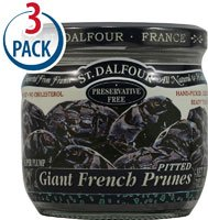 St. Dalfour Giant French Pitted Prunes -- 7 oz Each / Pack of 3 by St. Dalfour (Image #1)