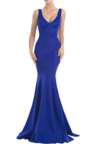 Meerjungfrau Charmant Damen Langes Rot Royal Blau Abschlussballkleider Ballkleider Einfach Dunkel Satin Abendkleider Rock OAqwxzOrg