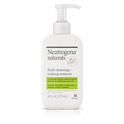 Neutrogena Naturals Fresh Cleansing Daily Face Wash + Makeup Remover with Naturally-Derived Peruvian Tara Seed, Hypoallergenic, Non-Comedogenic & Sulfate-, Paraben- & Phthalate-Free, 6 fl. Oz (2 Pack) ()